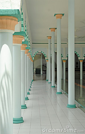 Interior of a mosque