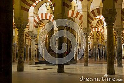 Interior of Mosque,  Cordoba,Andalusia,  Spain