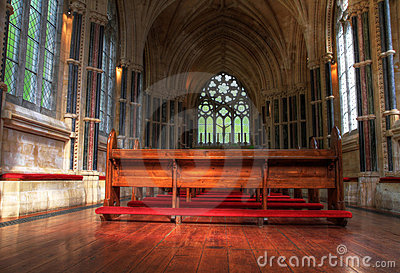 Interior of neo gothic church Editorial Image