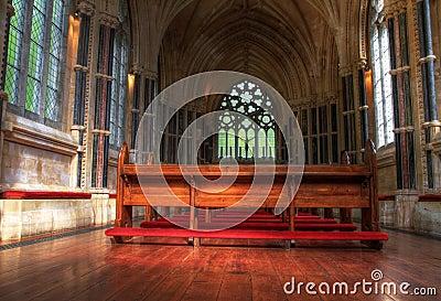 Interior of neo gothic church Editorial Image