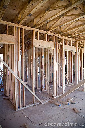 interior of new apartment building under construction
