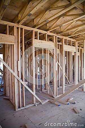 interior of new apartment building under construction