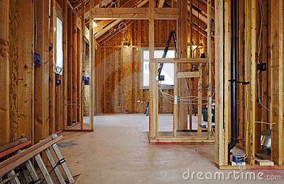 Interior of New Home Construction