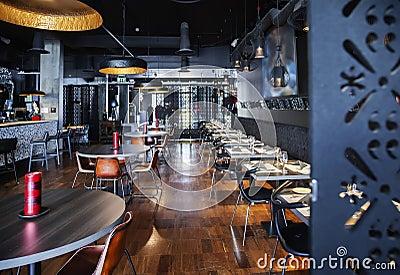Interior of new restaurant