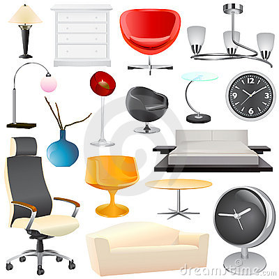 Free Interior Object Big Set Royalty Free Stock Images - 12205219