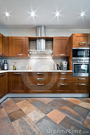 Free Interior Of A New Kitchen Royalty Free Stock Images - 10073489