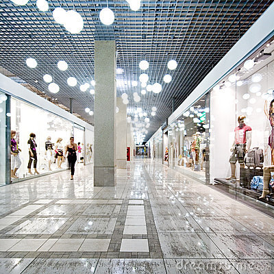 Free Interior Of A Shopping Mall Stock Photography - 6649132