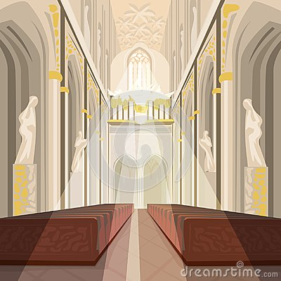 Free Interior Of Cathedral Church Or Catholic Basilica Royalty Free Stock Photography - 103759167