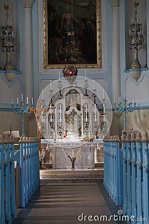 Free Interior Of Church Of St. Elizabeth Stock Image - 33121111