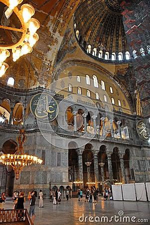 Free Interior Of Hagia Sophia Stock Images - 6055184