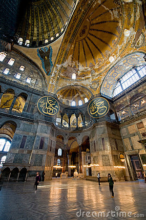 Free Interior Of Hagia Sophia Museum In Istanbul. Royalty Free Stock Photography - 6796217