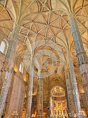 Free Interior Of Jeronimos Monastery Lisbon, Portugal Royalty Free Stock Photos - 21572278