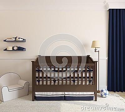 Free Interior Of Nursery. Royalty Free Stock Photo - 33760585