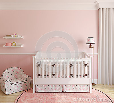 Free Interior Of Nursery. Royalty Free Stock Images - 38122999