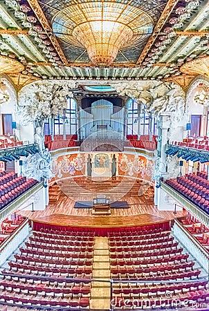 Free Interior Of Palau De La Musica Catalana, Barcelona, Catalonia, S Stock Images - 105625404