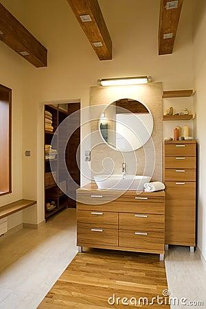 Free Interior Of Stylish Modern Bathroom Royalty Free Stock Photo - 8686585