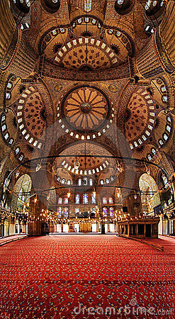 Free Interior Of The Blue Mosque (Sultanahmet Mosque) Stock Photography - 13900192