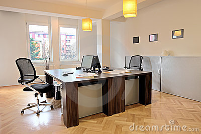 Interior of an office with chairs