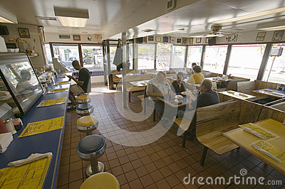 Interior of old diner in Arlington Virginia, Editorial Photography
