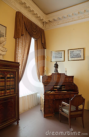 Interior of old nobility Palace Editorial Stock Image