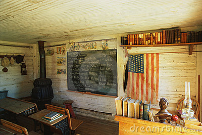 Interior of a one room school house Editorial Photography