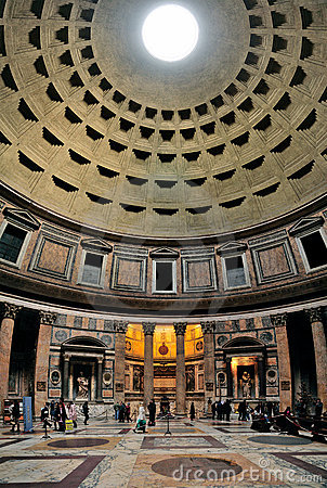 Interior of the Pantheon Editorial Photography
