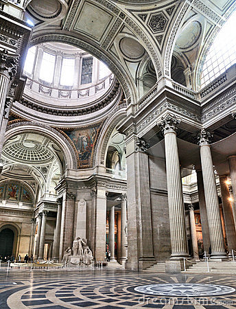 Interior of the Pantheon, Paris Editorial Photo