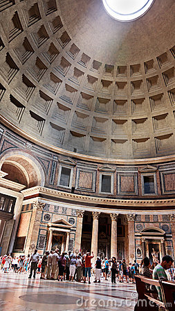 Interior of Pantheon, Rome, Italy - 17 August 2010 Editorial Photo
