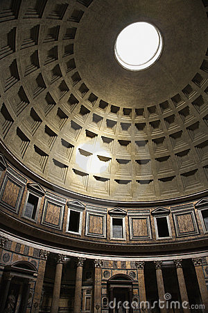 Interior of Pantheon, Rome, Italy.