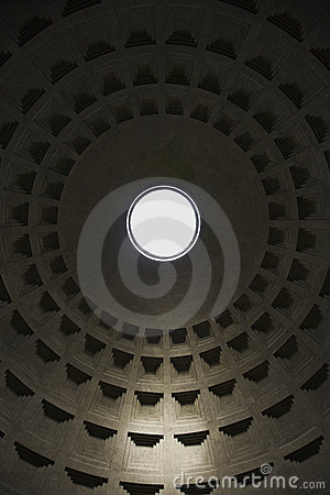 Interior in Pantheon, Rome, Italy.
