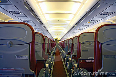 Interior of passenger aircraft