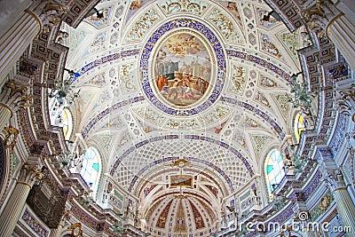 Interior picture church Stock Photo