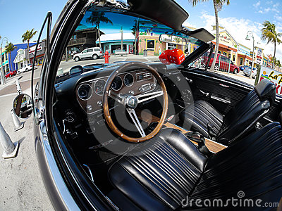 Interior Pontiac GTO, Fort Myers Beach Florida Editorial Image
