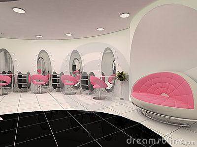 Interior of Professional beauty salon