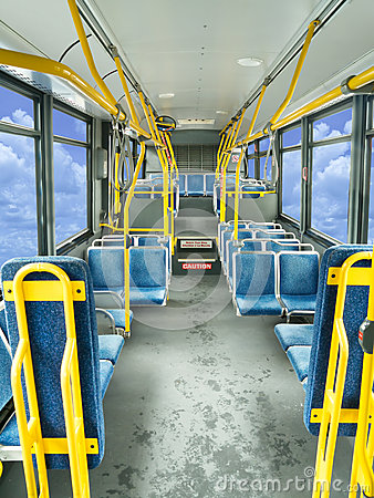 Interior of a public bus