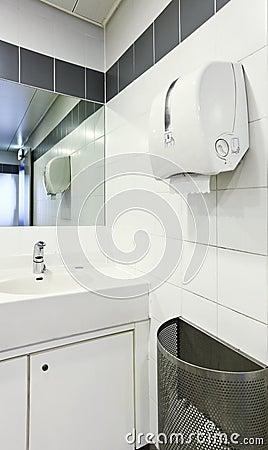 Interior of a public toilets