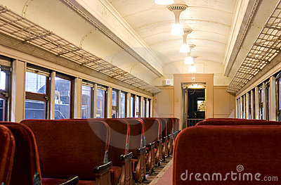 Interior of a Pullman train of 1930 s