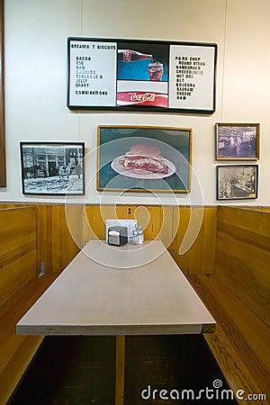 Interior of restaurant in Mount Airy, Editorial Image