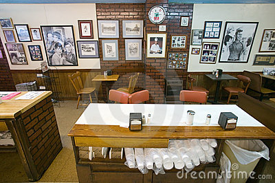Interior of restaurant in Mount Airy Editorial Image
