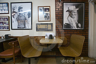 Interior of restaurant in Mount Airy Editorial Stock Image