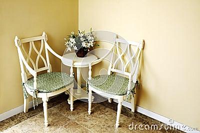 Interior of room corner
