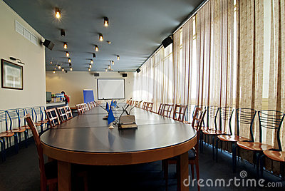 Interior of a room for meetings