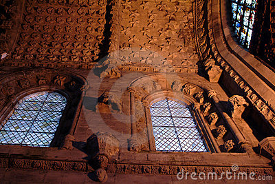 Interior Of Rosslyn Chapel, Scotland