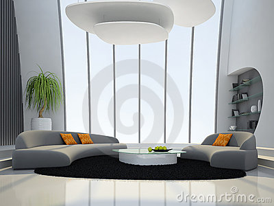 Interior of the round living-room