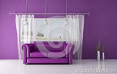 Interior roxo