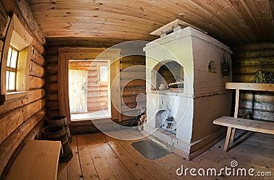 Interior of the Russian bath
