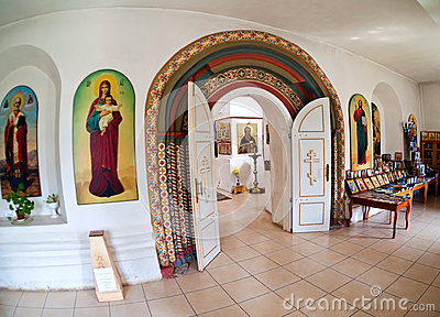 Interior of russian orthodox church