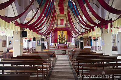 Interior of Sacred heart church in Ooty