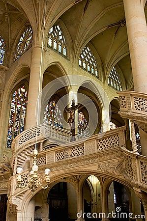 Interior of Saint Etienne church