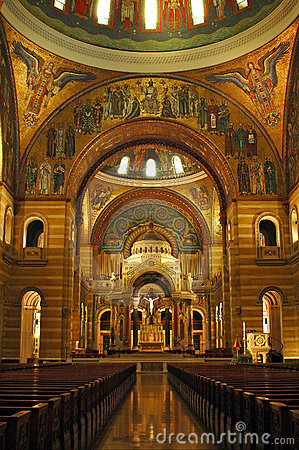 Interior Of Saint Louis Cathedral Royalty Free Stock Photo - Image: 1485495